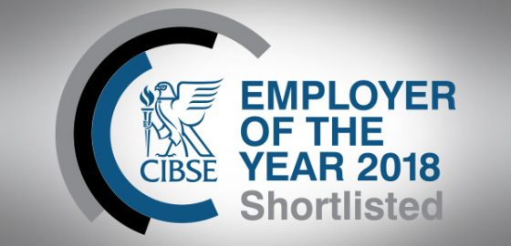 B&W shortlisted for  CIBSE 'Employer of the Year' award
